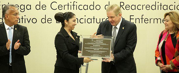 El Consejo Mexicano para la Acreditación de  Enfermería, A.C. (COMACE), reconoció la calidad del Programa Educativo de Licenciatura de la UANL