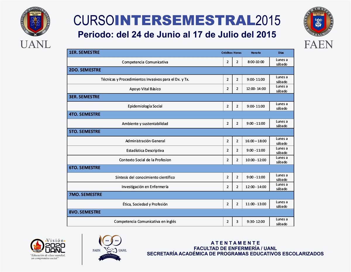 intersemestrales