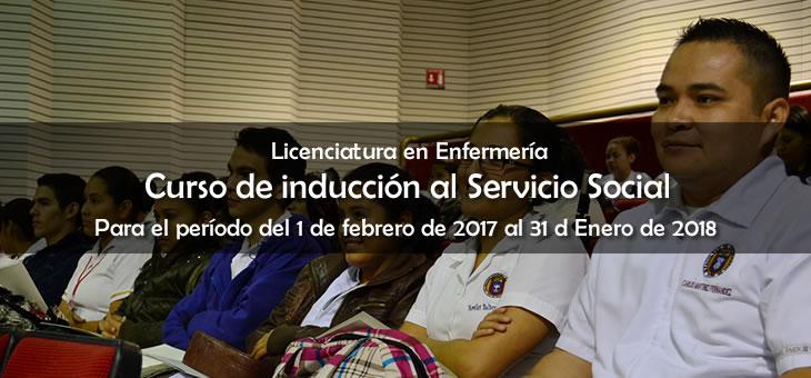 Cursos de Inducción al Servicio Social – Lic. en Enfermería