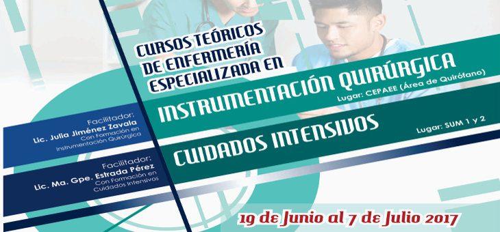 Cursos teóricos de Enfermería Especializada en Instrumentación Quirúrgica y Cuidados Intensivos