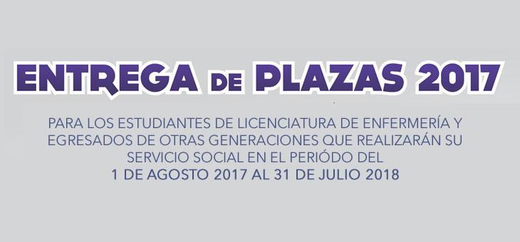 Entrega de plazas Servicio Social 2017