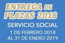 Entrega de plazas de servicio social enero 2018