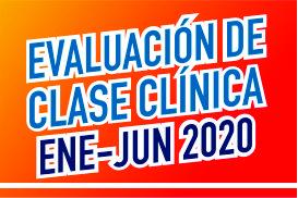Evaluación de clase clínica enero-junio 2020